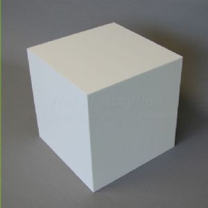 '15cm - White Acrylic Display Cube / Box' from the web at 'http://www.retailacrylics.co.uk/ekmps/shops/retailacrylics/images/15cm-white-acrylic-display-cube-box-137-p[ekm]300x300[ekm].jpg'